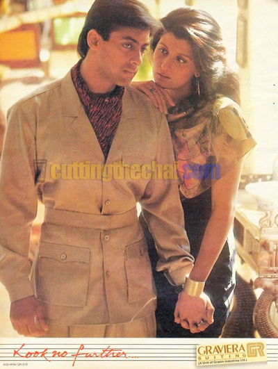 Salman Khan and Sangeeta Bijlani in Graviera Suitings Ad