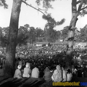 Sardar Vallabh Bhai Patel addressing a public meeting in Shillong (January 1948)