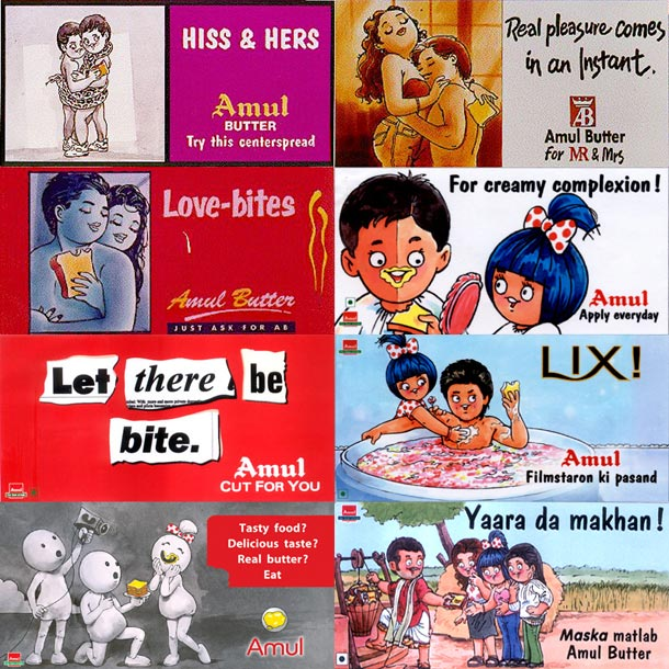 Amul ads on ads